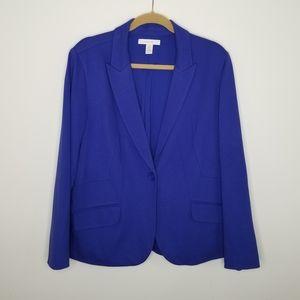 Chicos size 3 Blue Blazer Jacket